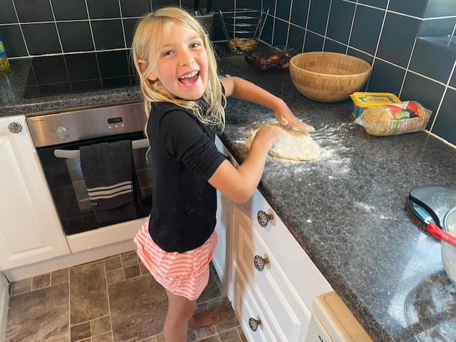MH (Y2) making pizza dough